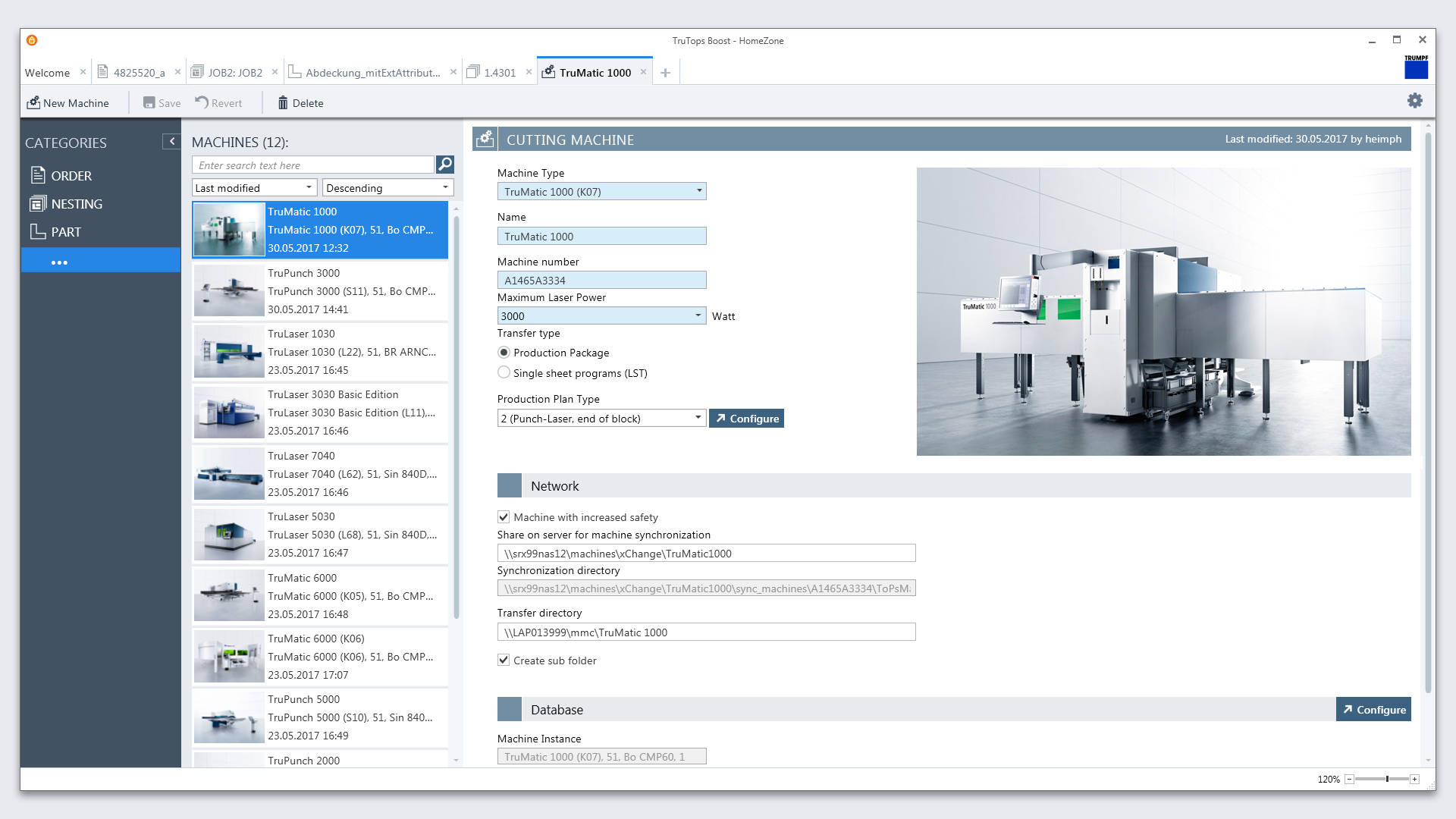 Trumpf TruTops Boost User Interface Design