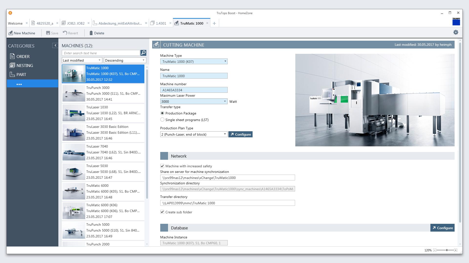 Trumpf TruTops Boost User Interface Design
